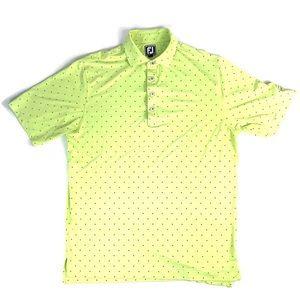 FootJoy Green/Blue Polka Dot Polo Shirt